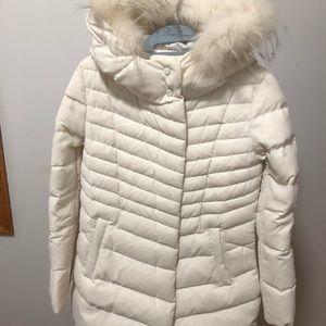 Mo & Co de Paris long white puffer jacket